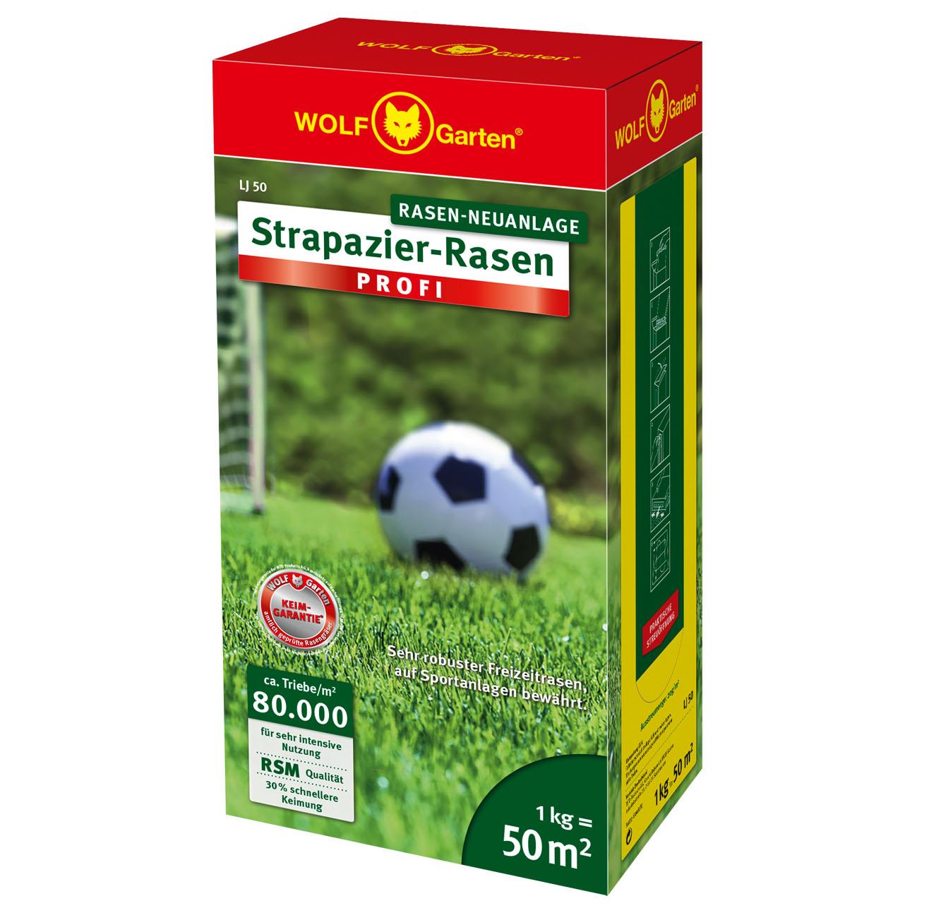 Premium Garten Strapazier-Rasen PROFI 2,5kg