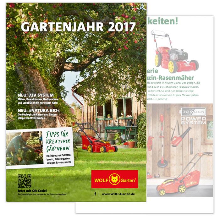 Bedienungsanleitungen Kataloge Broschuren Wolf Garten
