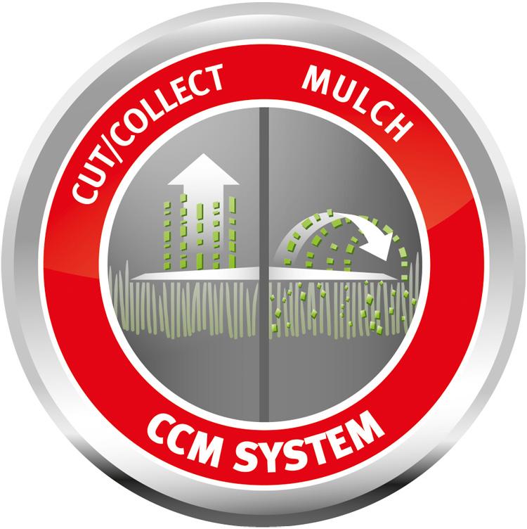 CCM-SYSTEM – 3 KUNKTIONEN IN EINEM MÄHER